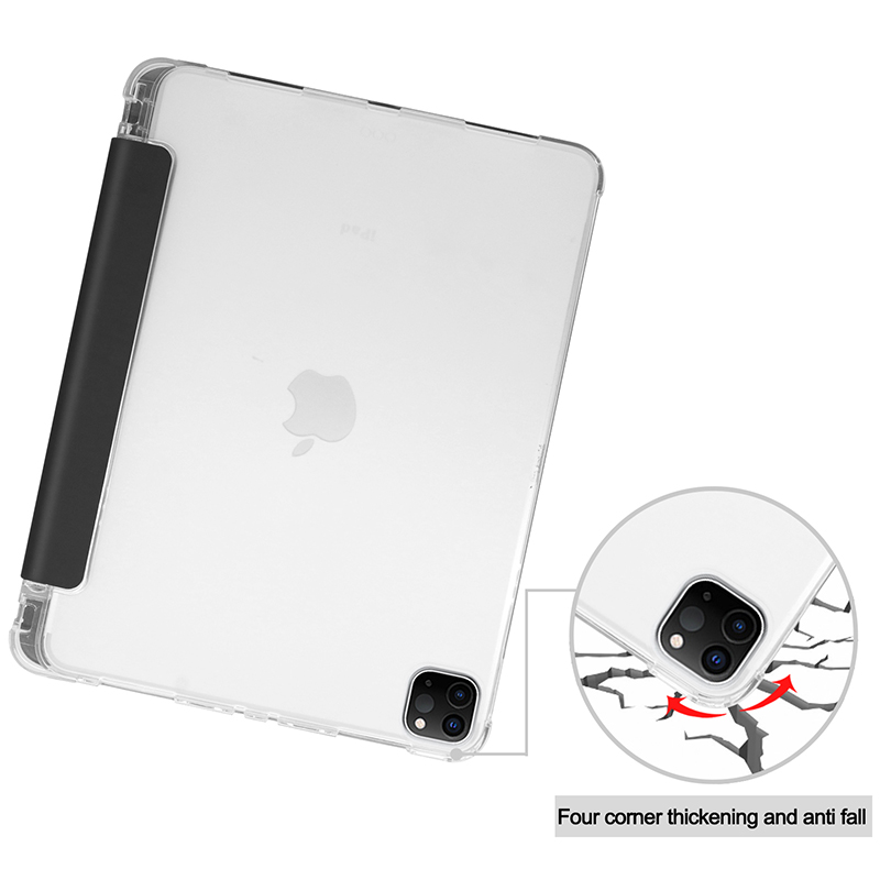 with Transparent-Cover for iPadpro11 Pen-Holder PU Pencil-Slot 11inch Case A2228/A2068/A2230