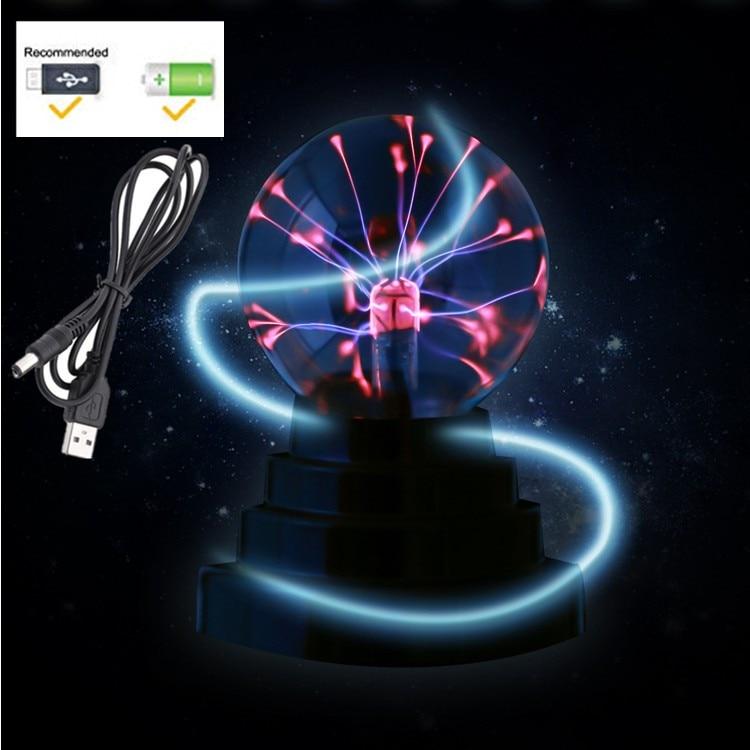 3-inch Balloon USB Magic Lamp Negative Ion Lamp Plasma Electrostatic Ball Magic Lightning Ball Glow Ball