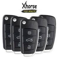 KEYECU 5x (영어 버전) Xhorse A6 Q7 스타일 X003 시리즈 3 버튼 VVDI 키 도구 용 범용 와이어 원격 키