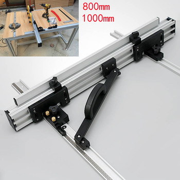 800/100mm Miter Track T-track Sliding Brackets for Electric Circular Saw Engraving machine for Woodworking workbench DIY tools
