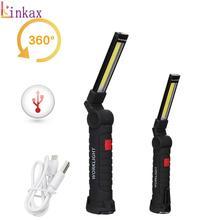휴대용 COB 손전등 토치 USB 충전식 LED 작업 빛 마그네틱 COB lanterna 야외 캠핑에 대 한 교수형 램프