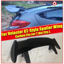 Fit for HyundaI Veloster Turbo Spoiler Ver2 Gt-Wing Style carbon fiber Fits For T Not L rear spoiler wing Roof