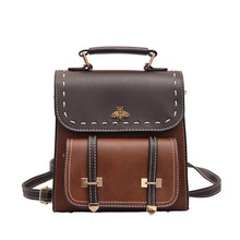Korean Version of 2020 New Hit Color PU Mini Multi-purpose Ladies Small Backpack Fashion All-match Shoulder Bags Sac A Dos