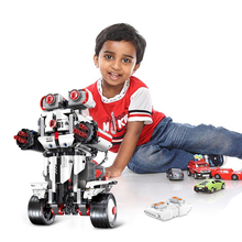 Building Blocks Intelligent remote control robot programming toys Technic Diy Toy For Boys Children Bricks Toys Christmas Gifts city series weapon technic blocks 611pcs diy bricks rc robot building blocks compatible remote control robot block toy for kids