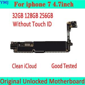 Image 2 - Placa base para iphone 7, 32GB, 128GB, 256GB, 4,7 pulgadas, con Touch ID/sin Touch ID, placa Original desbloqueada