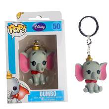 FUNKO POP Disney Cartoon Cute Pocket POP Keychain Dumbo PVC Action Figure Collection Model Toys For Children Christmas gifts(China)