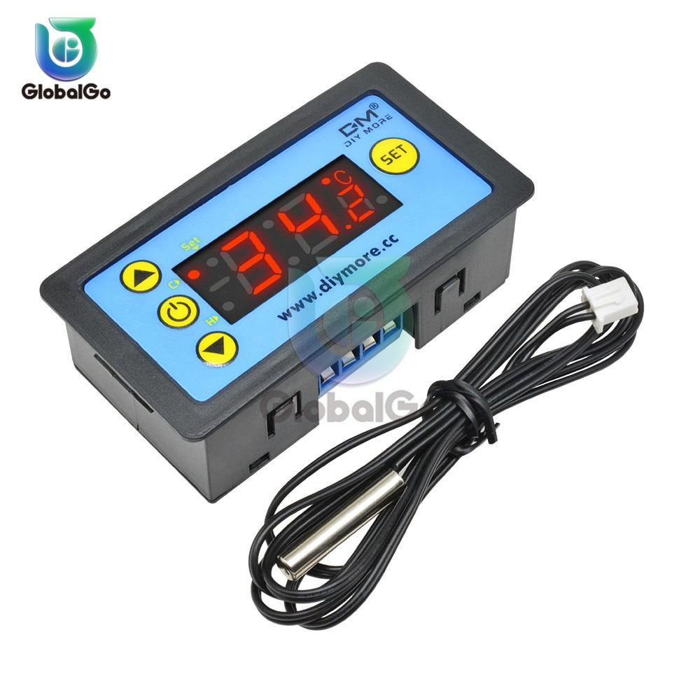 12 24 220V Intelligent Digital Thermostat Regulator For Refrigerator Heat Cool Temperature Controller Control NTC Sensor Switch