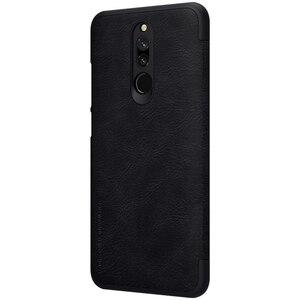 Image 4 - Redmi 8 Case Nillkin Qin Series PU Leather Flip Cover Case for Xiaomi Redmi 8