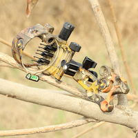 Black Compound Bow Upgrade Sight Optical Fiber Outdoor Archery Practice 7Pin Adjustable Tools