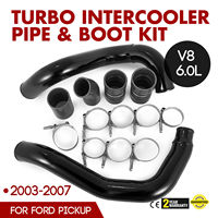 2003 2007 Ford 6.0L Powerstroke Turbo Intercooler Pipe and Boot Kit CAC Tubes