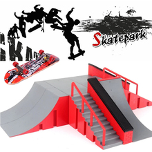 Mini Skateboard Toy Skate Park For Fingerboard Skateboard Ramps Fingerboard Ultimate Park Training Board Toys for Kids