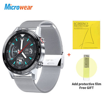 Microwear L16 Smart Watch Men Sports Fitness Tracker IP68 Waterproof Heart Rate Monitor Android IOS Full Touch Screen Smartwatch 11