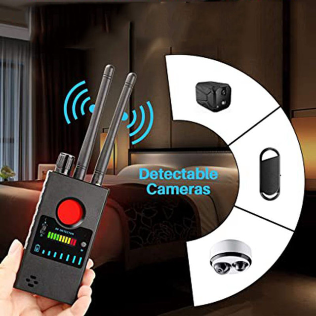 Anti-wiretapping Device GPS GSM RF Signal Frequency Scan Tracker camera detect GSM Audio Bug Finder GPS Scan Anti Wiretapping