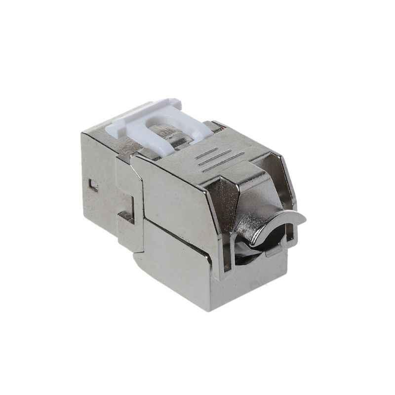 1 unidad RJ45 Keystone Cat6/Cat6A Módulo de aleación de Zinc FTP blindado enchufe de red Keystone conector adaptador