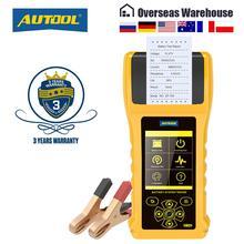AUTOOL BT760 автомобильный тестер аккумулятора с принтером 6  32 в, тест аккумулятора с цветным экраном, тест яркости, тест зарядки и тест максимальной нагрузки