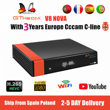 1080P HD DVB-S2 GTmedia V8 Nova Cccam Cline Satellite TV Rec