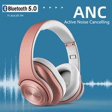 Active Noise Cancelling Bluetooth Headphones SODO Headset Earbuds with Microphone TF Card for Phone