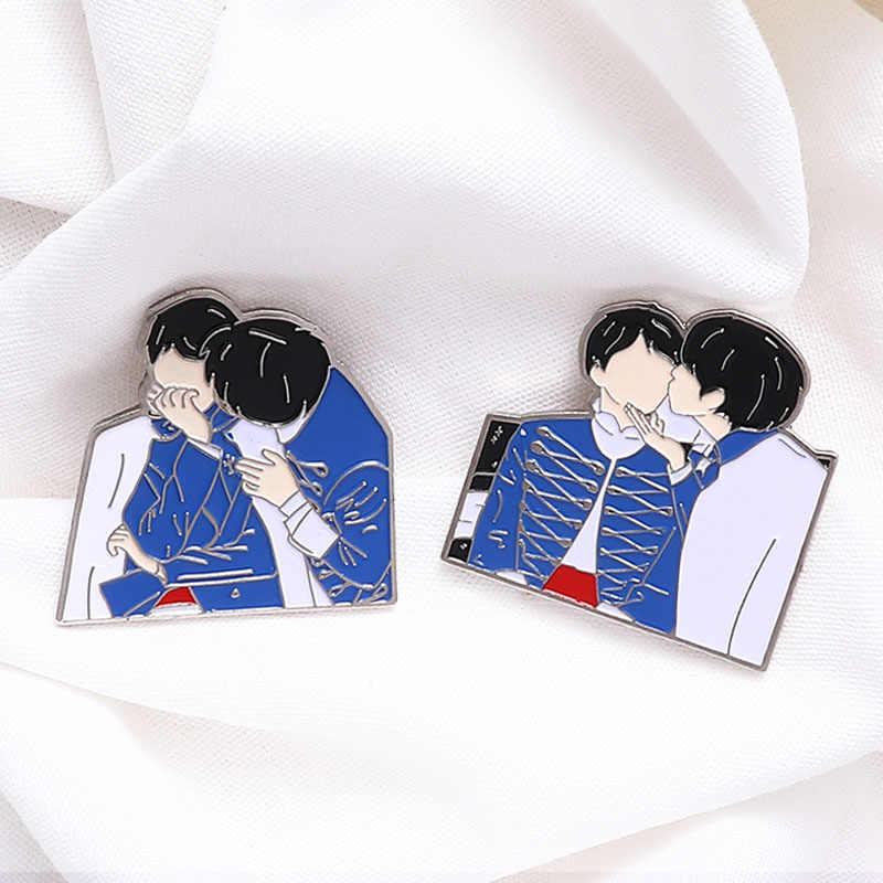 Kpop Enamel Pin Bangtan Boys Kerah Pin Lencana Bros Kpop Aksesoris Perhiasan Hadiah untuk Para Penggemar