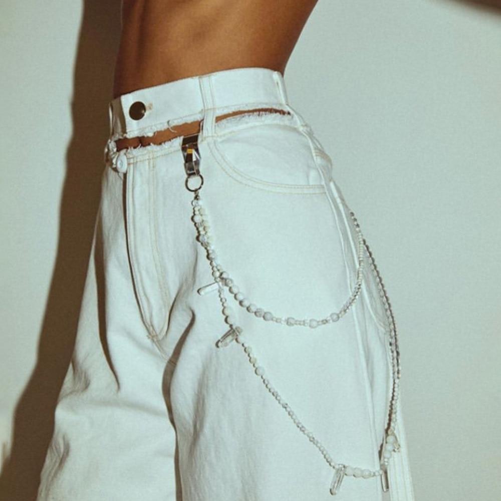 High-Waist Jeans Denim Leg-Pants Tassel Ripped Streetwear Autumn Wide Women Hole Fall
