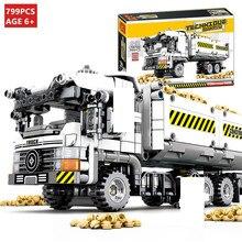 купить 799Pcs Technic Truck Car Model City Engineering Vehicle Building Blocks Sets Construction Bricks Educational Toys for Children онлайн