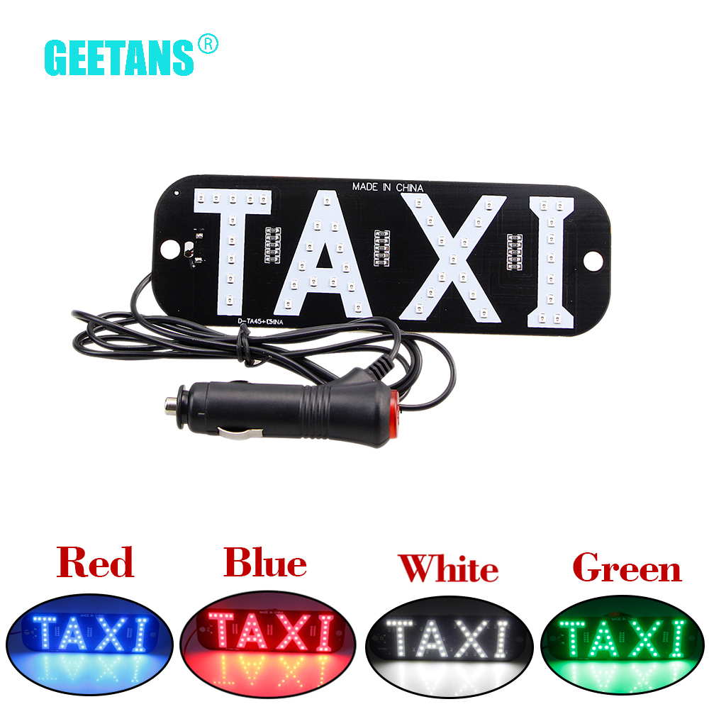 GEETANS 1Pcs 12V Long-Taxi Led Car Windscreen Cab Indicator Lamp Sign Colorful LED Windshield Taxi Light Lamp High Quality CJ