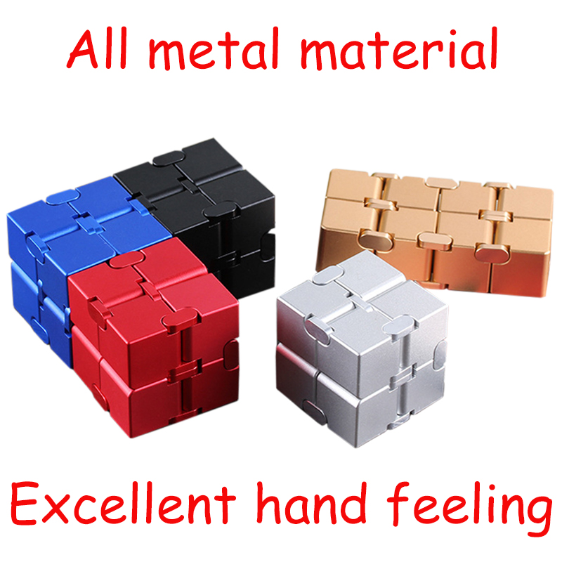 Cube-Toys Infinity-Cube EDC Metal Relief Magical Anxiety Aluminium for Deformation Premium