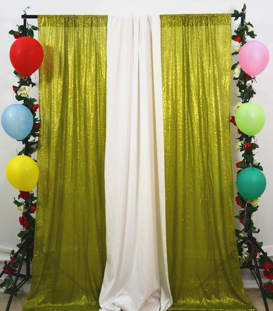 Party Curtain 5ftx8ft Lime Green Sequin Backdrop Curtains Shimmer Backdrops Christmas Ornament-M1004