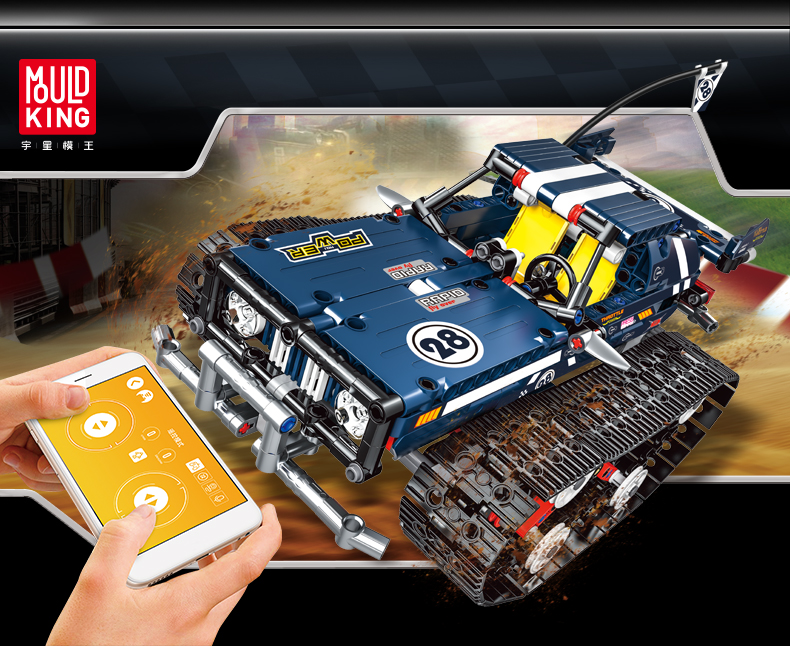 MOULD KING Compatible 13026 13025 RC Tracked Racer Building Block 4