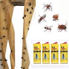 Entrega rápida 4 rolos pegajoso papel mosca eliminar moscas inseto bug cola coletor de papel armadilha insetos voando mosca armadilha mata moscas