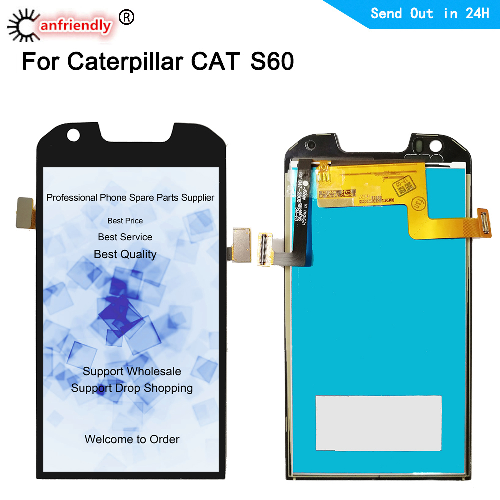 For Cat S60 S 60 Display+Touch Screen LCD Replacement Digitizer with frame Assembly Parts For Caterpillar Cat S60 Phone lcds