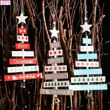 QIFU Merry Christmas Letter Wooden Ornaments Decorations For Home 2019 Navidad Xmas Tree Happy New Year Gift