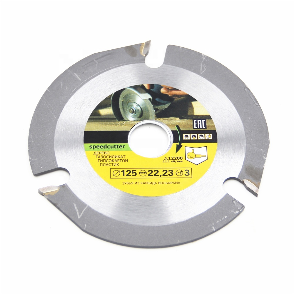Universal 125mm 3 Tooth Circular Carbide Saw Blades For Angle Grinder Saw Disc Cutter Cutting Wood Multitool Angle Cutting Slice
