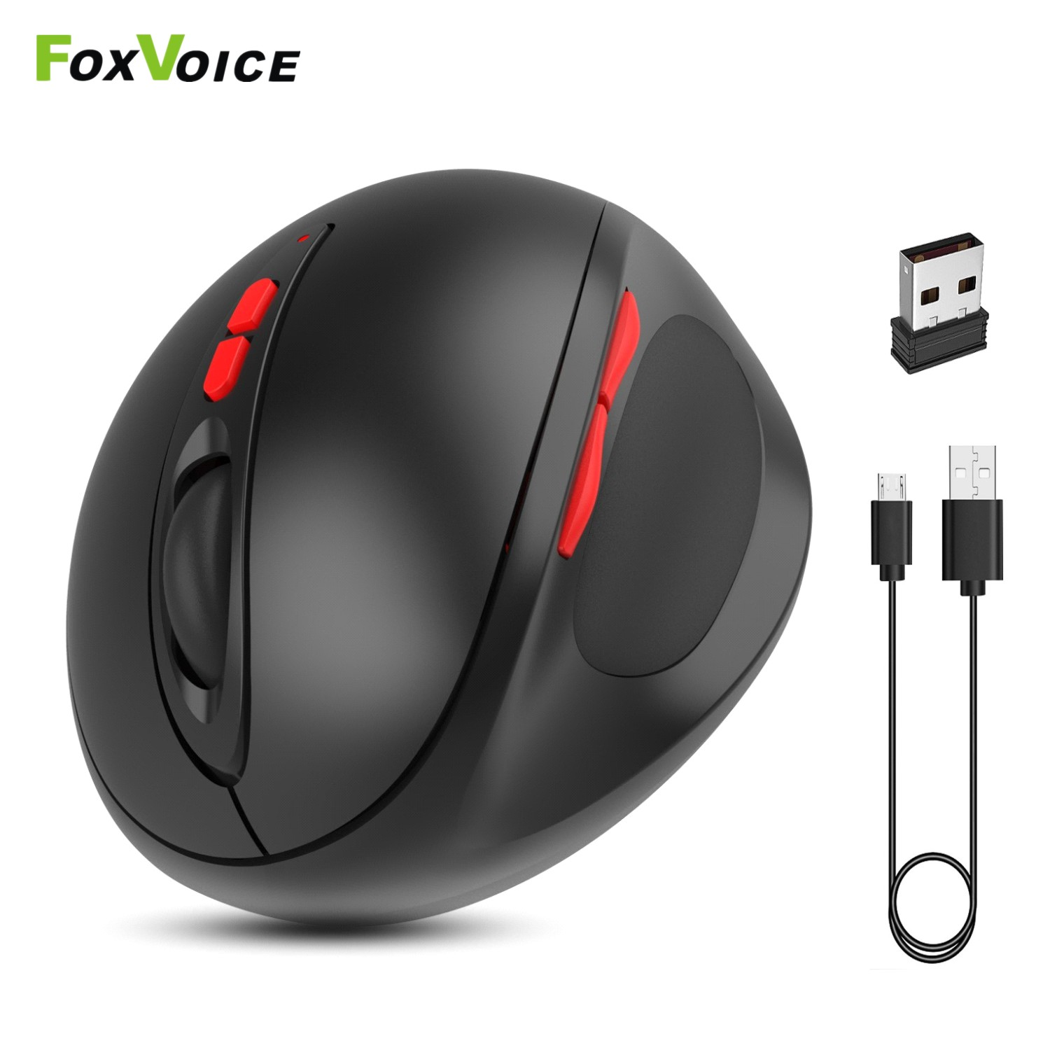 Gamer Gaming Wireless Mouse Vertical Ergonomic Rechargeable Mause USB 7 Key Magic Mouse For PC Laptop Notebook Computer Desktop