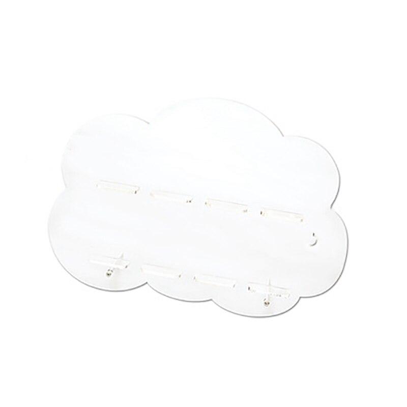 Macaroon suportes acrílico transparente nuvens forma sobremesa suporte 8 ferramentas bolo em branco creme cookies prateleira para o casamento|Racks e suportes| |  - title=