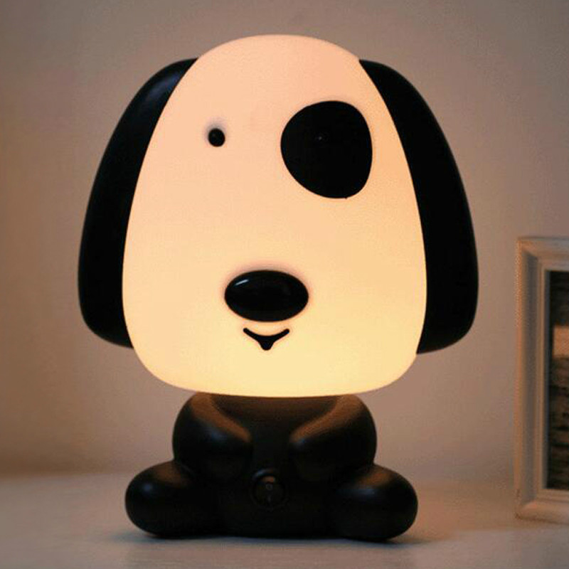 LED Novelty Night Light Cartoon Panda / Dog / Bear / Rabbit Table Lamp Children's Room Bedside Lamp Children's Holiday Gift