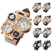 Часы мужские цифровые с 4 циферблатами креативные Кварцевые