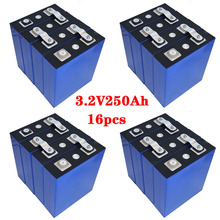 16 шт. 3,2 В 250 Ач lifepo4 аккумулятор DIY 12 В 24 В 500 Ач 48 В 250 Ач аккумулятор аккумулятор пакет для электромобиля автомобиля жилого автофургона солнечной энергии энергии налога бесплатно