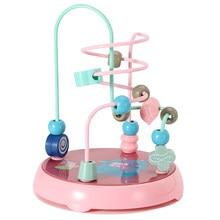 Grânulos labirinto puzzle brinquedos para crianças 3d orbit educação aprendizagem jogo para crianças de 1 a 3 bebê criatividade montessori meninas meninos