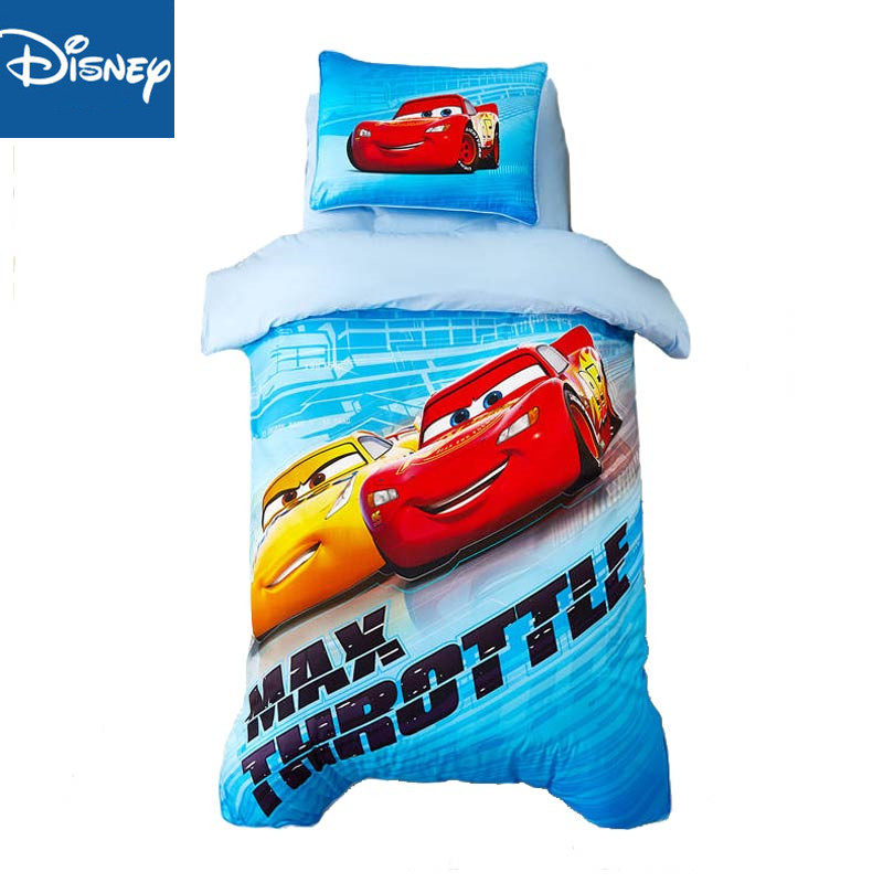 Disney Kindergarten Bedding Sets McQueen <font><b>Cars</b></font> Children's Bedroom Baby 120x150cm Two Three Pcs Set Home Textile Cartoon Promotion image