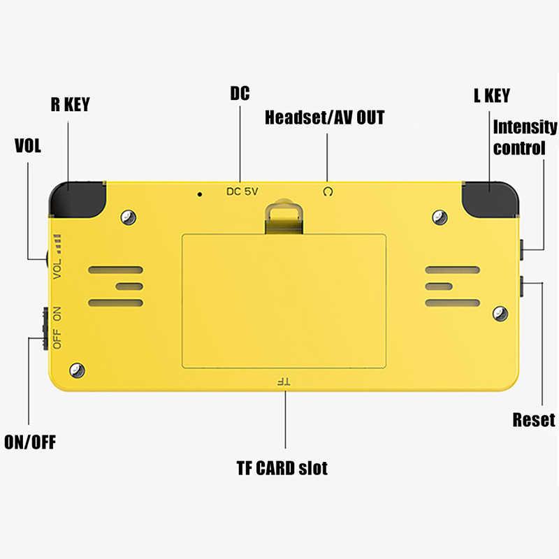 Ldk 2.6 inç oyun konsolu açık kaynak sistemi Mini el Build-In 3000 oyun Retro oyun Mini aile Tv video konsolu siyah
