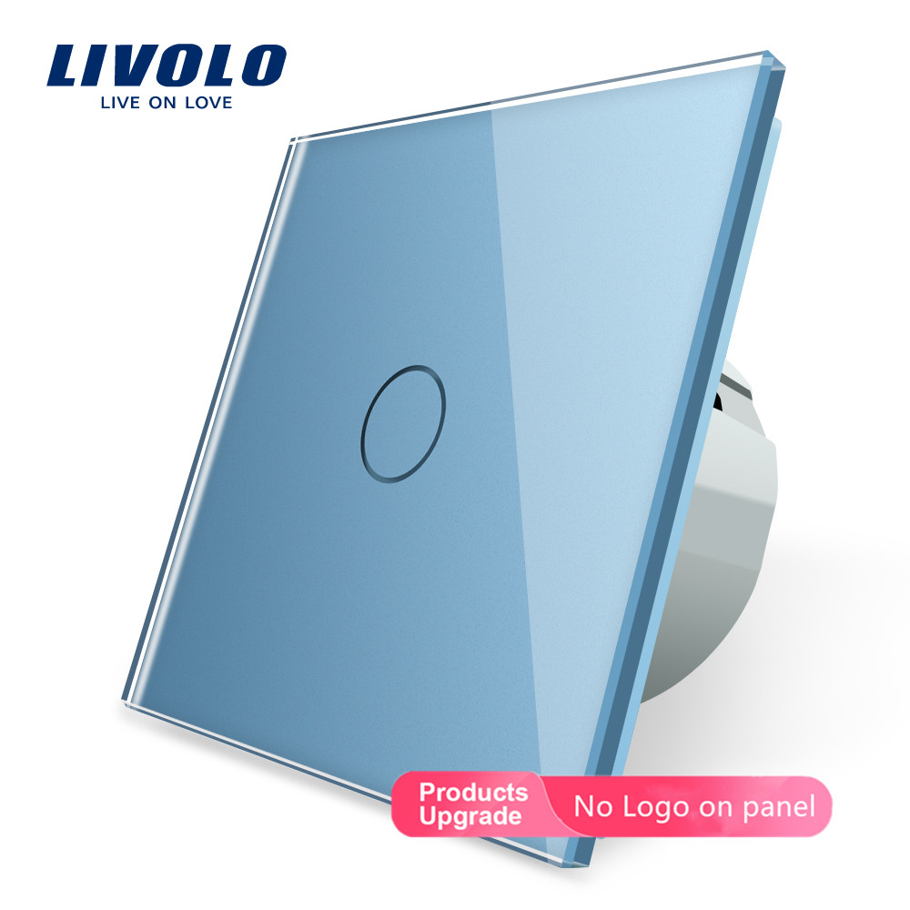 Image 2 - Livolo Wall Light Touch Switch With Crystal Glass Panel,colorful switch,led indicator light,universal wall switchesSwitches   -