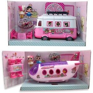 LOL сюрприз оригинальный дом куклы самолет игрушки Аниме фигурки Самолет Модель Коллекция Сделай Сам игрушка девочка подарки на день рожден...