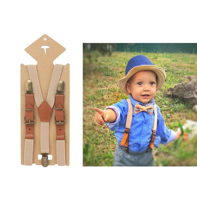 2cm Fashion Elastic Suspenders Solid Baby Boy Suspenders Children Retro Braces Adjustable Y-shape Back Kids Suspenders Ring Bear