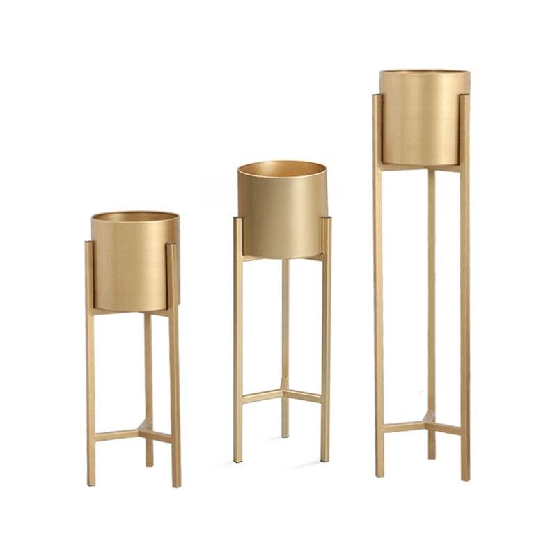 Metal Indoor Light Luxury Iron Art Flowerpot Frame Golden Landing Type Household A Living Room Decorate Shelf