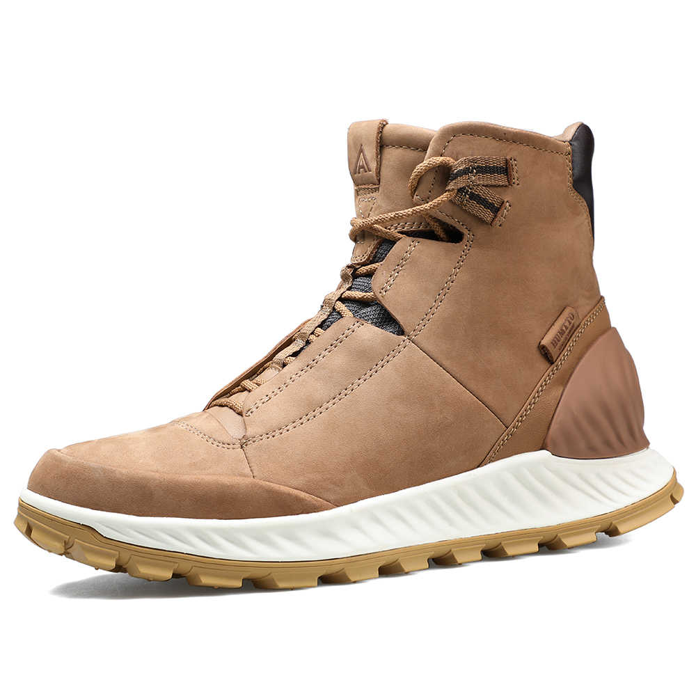 on sale uk availability high quality HUMTTO Casual Boots Men High Cut Hiking Shoes Outdoor Fashion ...