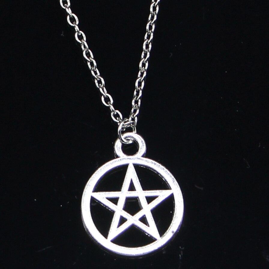 Новое модное ожерелье 24x24 мм Звезда Пентаграмма Подвески короткое длинное женское мужское ожерелье подарок ювелирные изделия Чокер