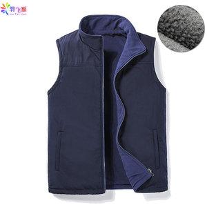 Image 1 - Casual Autumn Winter Fleece Mens Vest Black Sleeveless Mens Vest  5XL Warm Thick Mens Vest Jacket Chaleco Gilet