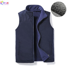 Gilet en molleton noir pour homme, sans manches, 5XL chaud et épais, veste Chaleco, Gilet automne hiver décontracté