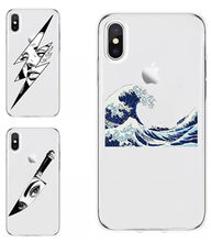 Jepang Harajuku Style Gelombang Horor Knite TPU Soft Coque Shell Ponsel Case untuk iPhone X XS XR 8 7 Plus 11 Pro Max Cover Fundas Capa(China)