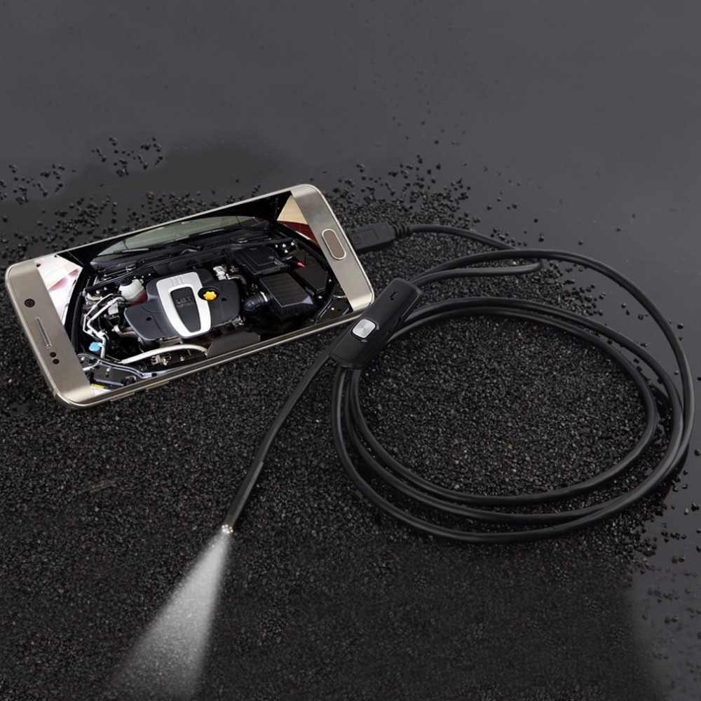 LESHP эндоскоп 6 светодиодный 7 мм тросик объектива водонепроницаемый мини USB осмотр бороскоп камера для Android 640*480 телефонов/1280*720 ПК
